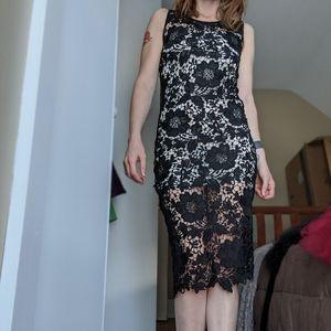 White House Black Market XS midi dress